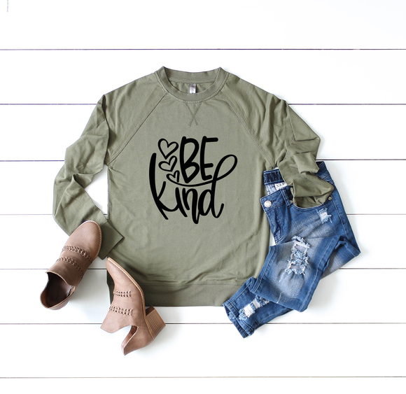 Be Kind Raglan Sweatshirt
