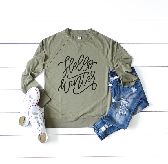 Hello Winter Raglan Sweatshirt