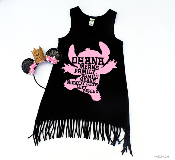Stitch Ohana | Girls Fringe Dress