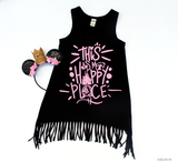 This Is My Happy Place | Girls Fringe Dress