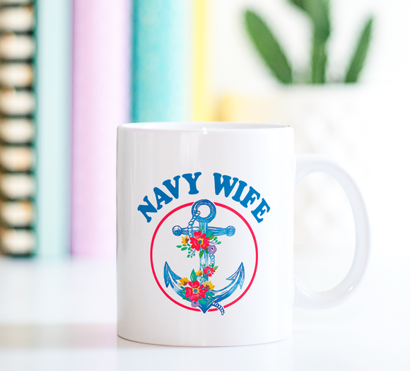 Navy Wife | Ceramic Mug