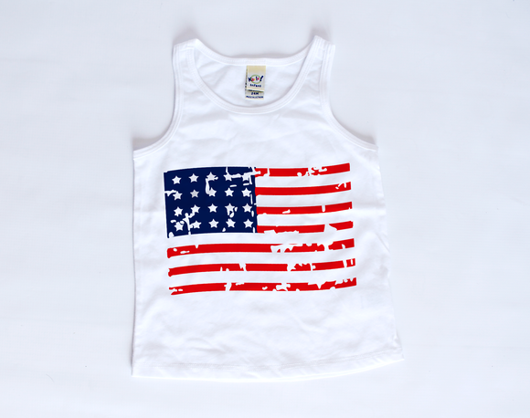 American Flag | Toddler Tank Top
