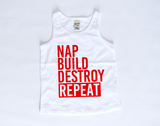 Nap Build Destroy Repeat | Toddler Tank Top