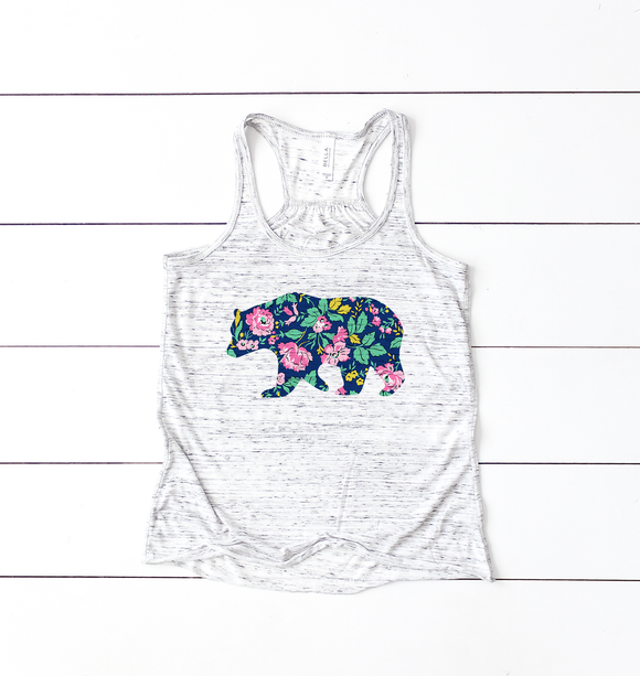 Floral Bear | Women's Tanks
