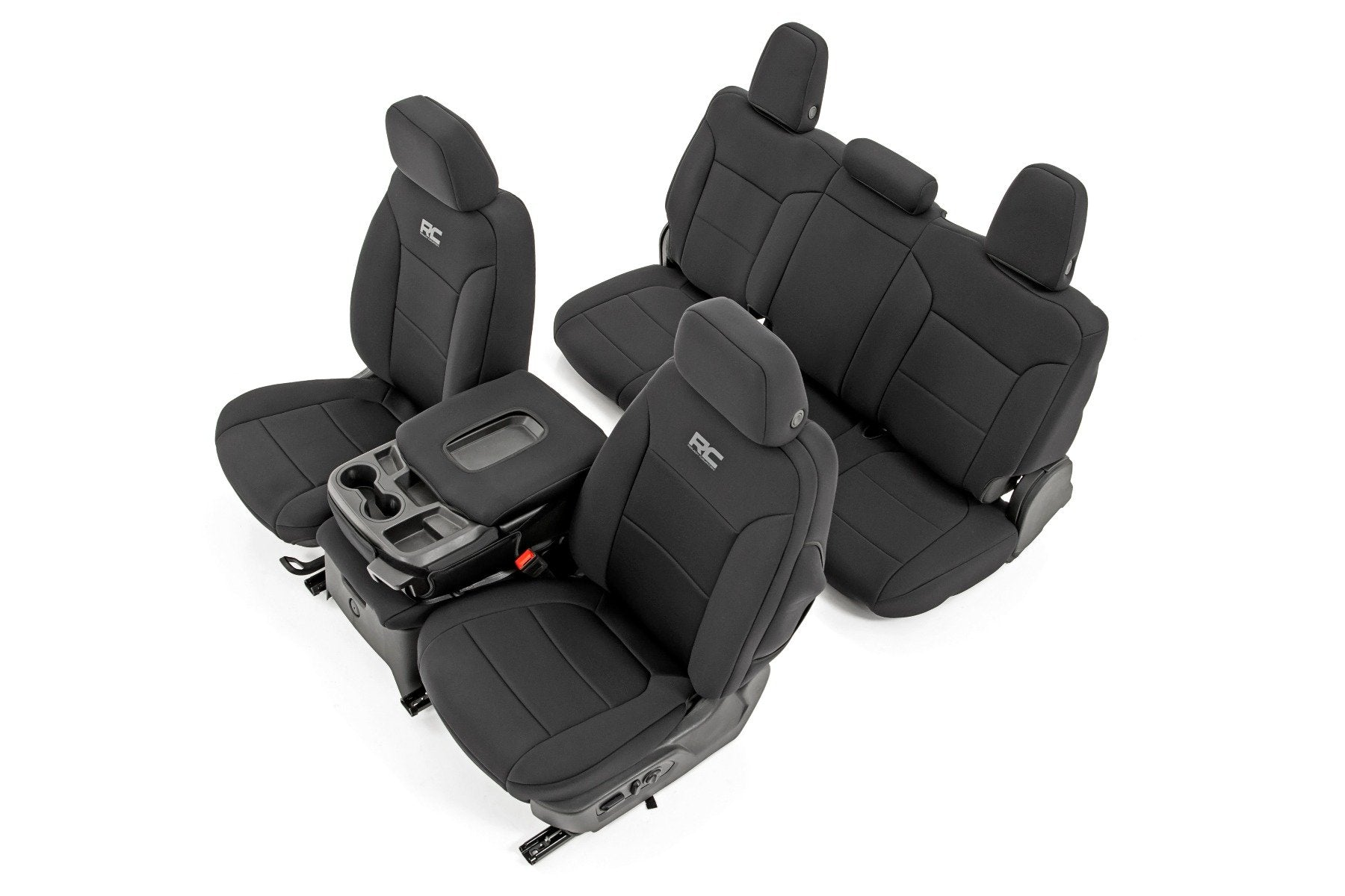 GM Neoprene Seat Covers Front and Rear | Black (19-21 1500)