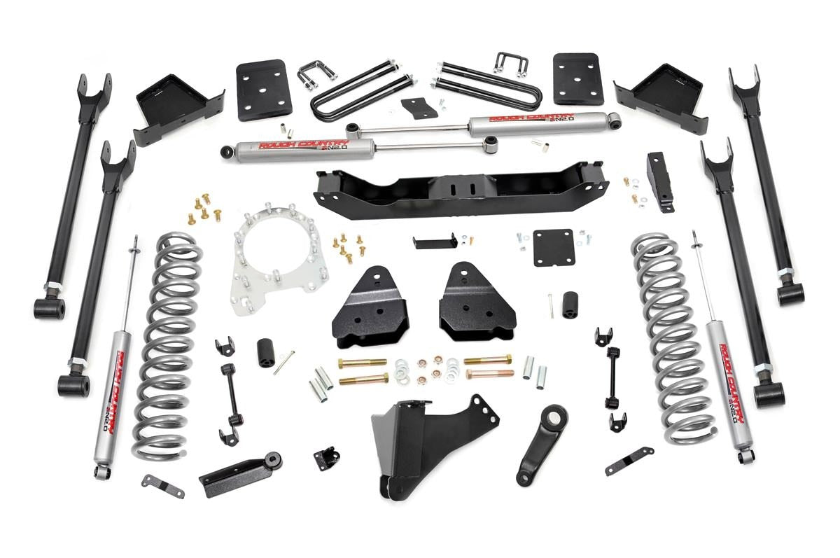6IN FORD 4-LINK SUSPENSION LIFT KIT (17-18 F-250/350 4WD | DIESEL)