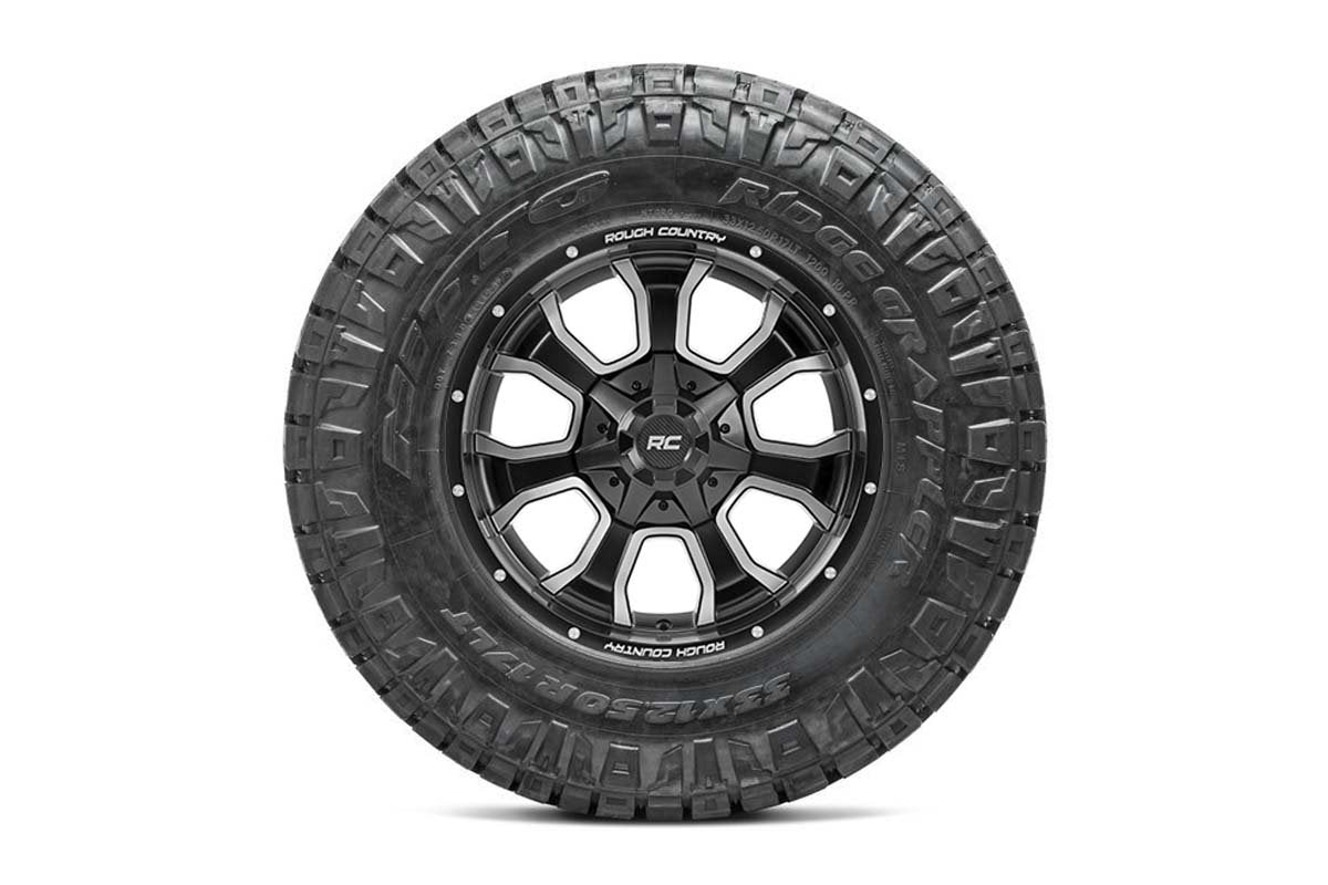 Nitto 295/60R20 Ridge Grappler w/ Rough Country Series 93 20x10 Combo (8x180)