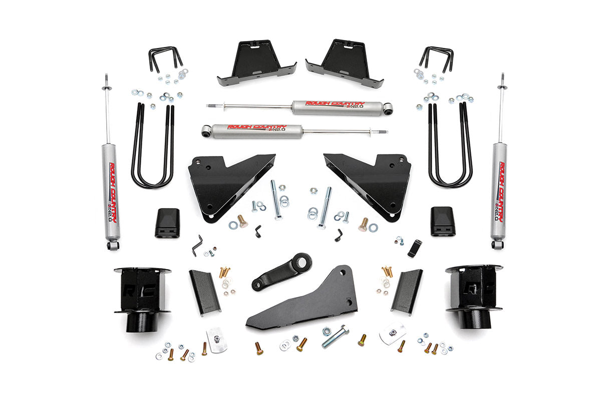 5IN DODGE SUSPENSION LIFT KIT | COIL SPACERS | RADIUS DROPS (13-15 RAM 3500 4WD)
