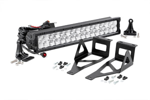 20-inch X5 Series Dual Row LED Light Bar w/ Hidden Bumper Mounts