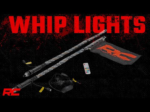 Multi-Function UTV LED Whip Lights w/ Remote Control