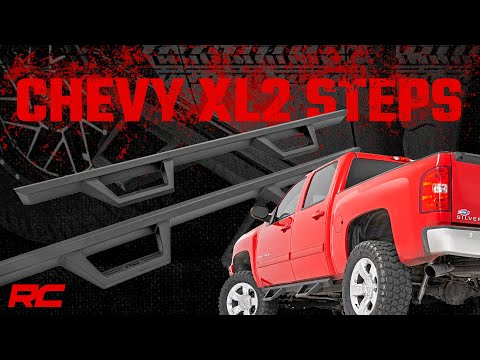 GM XL2 Drop Steps (07-18 GM 1500/2500HD Crew Cab)