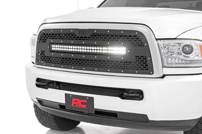 DODGE MESH GRILLE W/30IN DUAL ROW BLACK SERIES LED (13-18 RAM 2500/3500)