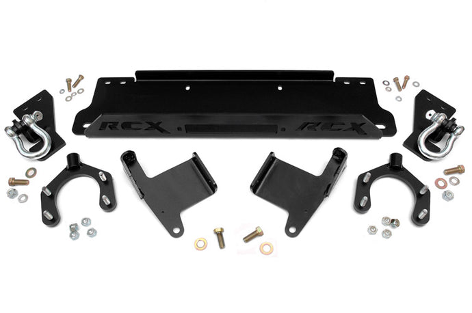 JEEP WINCH MOUNTING PLATE W/D-RINGS (07-18 JK WRANGLER)