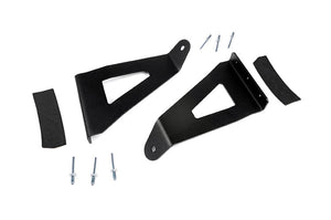 FORD 54-INCH CURVED LED LIGHT BAR UPPER WINDSHIELD MOUNTS (04-14 F-150)
