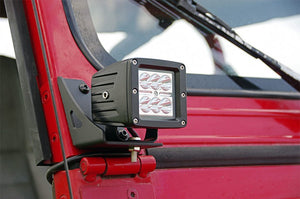 JEEP LOWER WINDSHIELD LIGHT MOUNTS (87-95 YJ WRANGLER)