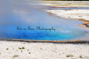 Blue Hot Pot At Yellowstone
