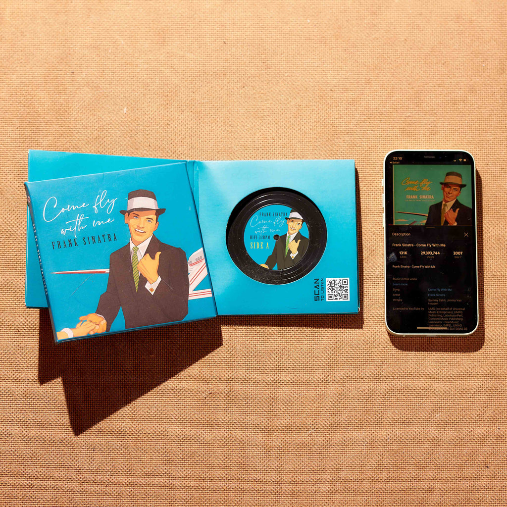 Frank Sinatra - Come fly with me Vinyl Record Coasters