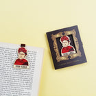 Bookmark gỗ nam châm Frida Kahlo Set 1 - BO006
