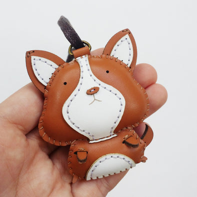 Leather Charm Chó Corgi - PT002