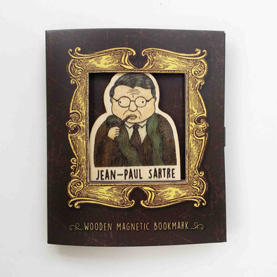 Bookmark gỗ nam châm Jean-Paul Sartre Set 1 - BO030