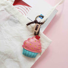 Leather Charm Cupcake dâu - PT062