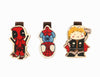 Bookmark gỗ nam châm Deadpool, Thor, Spiderman Set 3 - BM011