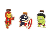 Bookmark gỗ nam châm Iron Man, Captain America, Hulk Set 3 - BM012