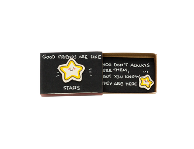 "Hộp diêm Tình bạn ""Good Friends are like Stars"" - OT003"