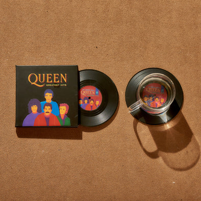 Bộ 2 Lót ly Đĩa than Queen Greatest Hits - CS013