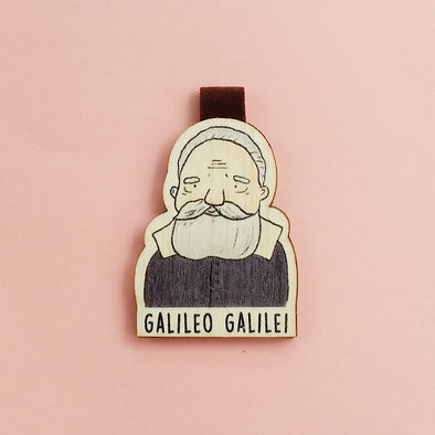 Bookmark gỗ nam châm Galileo Galilei Set 1 - BO007