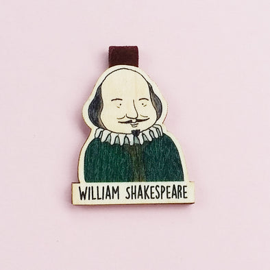 Bookmark gỗ nam châm William Shakespeare Set 1 - BO018