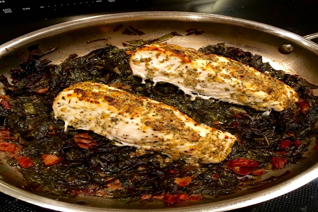 Halibut & Collard Greens