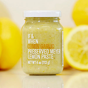 Cumin Garlic Preserved Meyer Lemon Paste