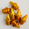 "Elite™ Track Spike (Aluminum) | 1/4"" Pyramid Round Tip - Gold 