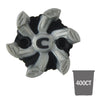 Helix BULK Golf Cleats (PINS) | Silver/Black