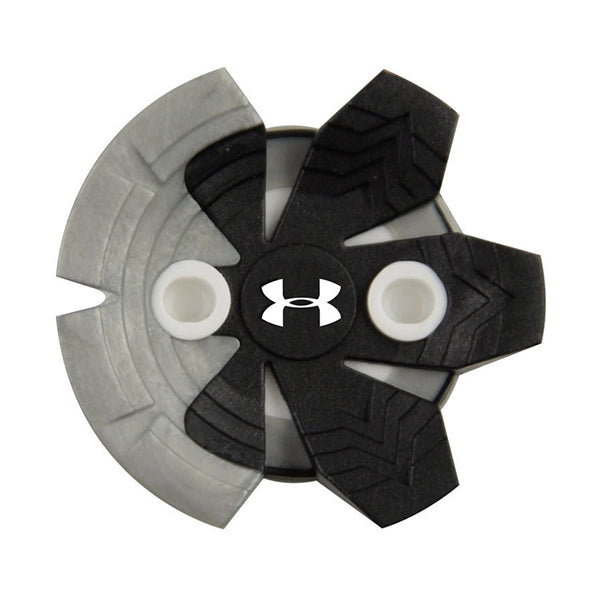 Under Armour Zarma Tour Golf Cleats (SLIM-Lok) | Silver/Black
