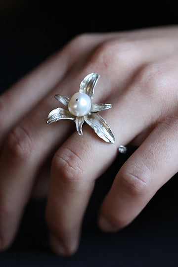 Hyacinth Pearl Open Ring