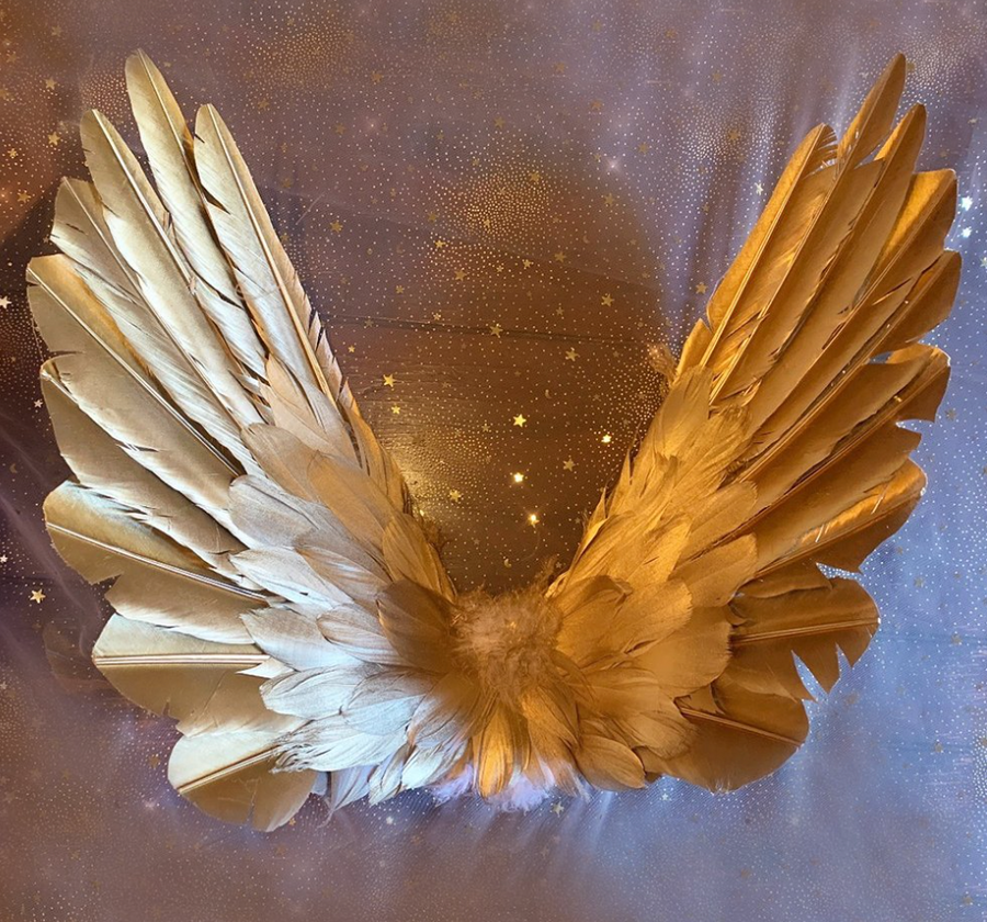 Floating Wings in Gold