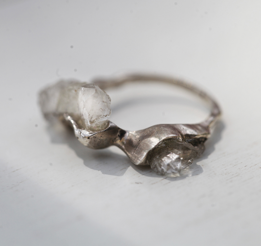 Irregular Geode Cavern Ring