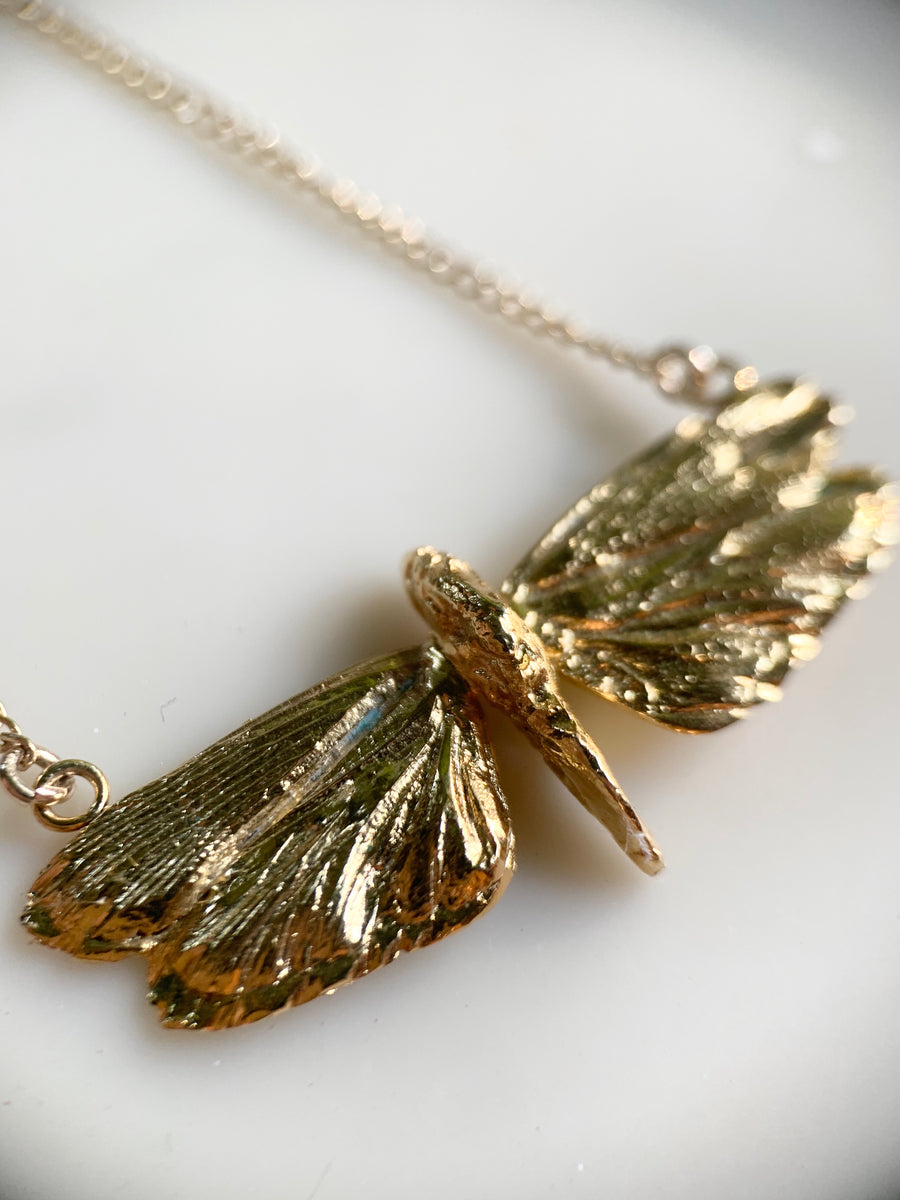 Tiny Cicada Necklace