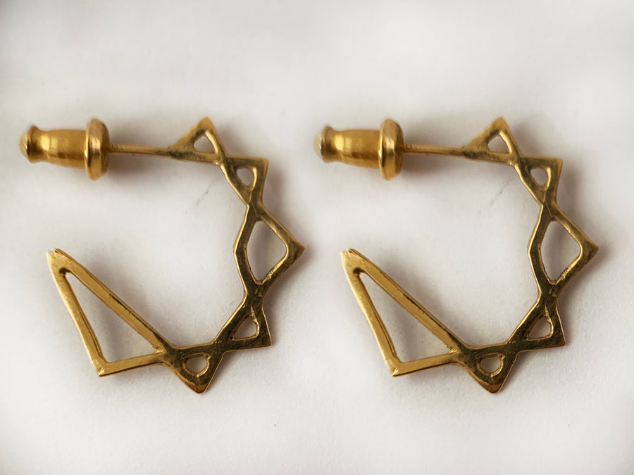Stonehart Star Earrings
