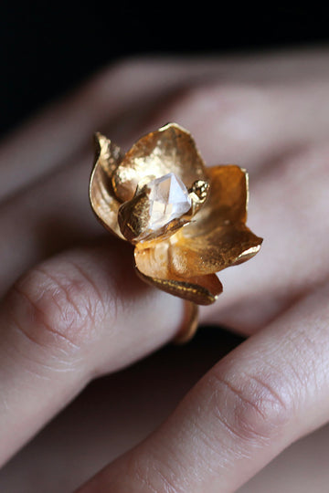 Orchid Herkimer Ring