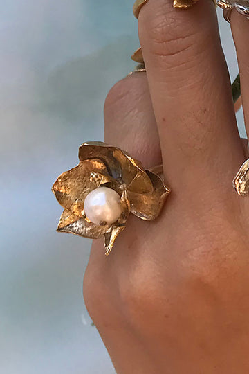 Orchid Pearl Ring