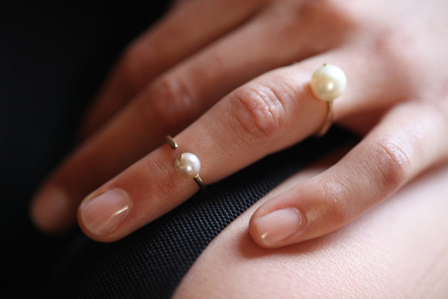 Single Pearl Open Ring