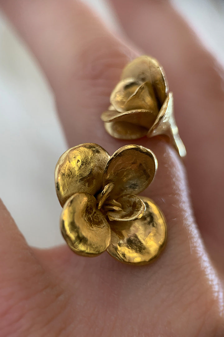 Wrap Around Floral Ring