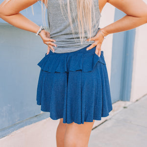 Cozy Rib Flouncy Tiered Skirt