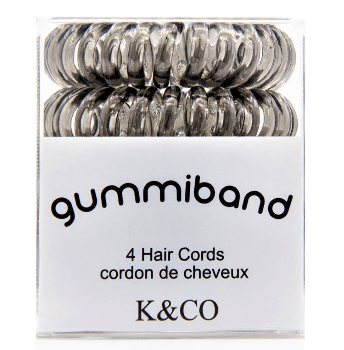Gummi Hair Cords- (Assorted Colors) Box of 4