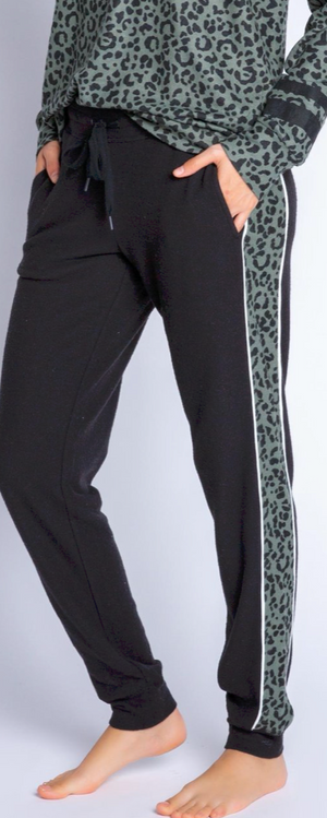 Run Wild Black Striped Jogger Pants