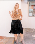 Silky Wrap Midi Skirt