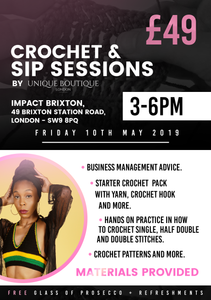 Unique Boutique London Crochet & Sip Sessions